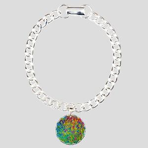 Rainbow Fields Charm Bracelet, One Charm