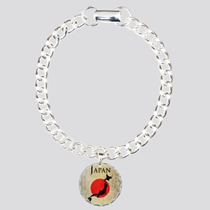 Map Of Japan Charm Bracelet, One Charm