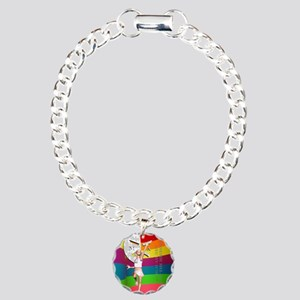 Cammie20ColorBrightShirt Charm Bracelet, One Charm