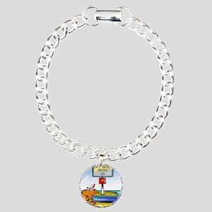 4833_cat_cartoon Charm Bracelet, One Charm