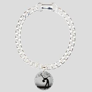 Ballet Dancer Charm Bracelet, One Charm