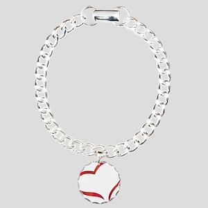 heart03 Charm Bracelet, One Charm