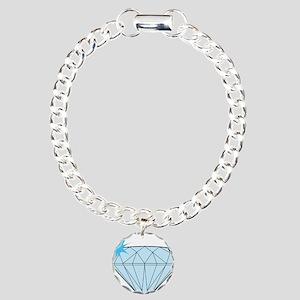 Diamond Charm Bracelet, One Charm