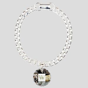 Photo Block with Monogram and Name Bracelet