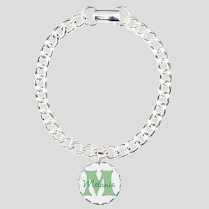 CUSTOM Green Monogram Bracelet