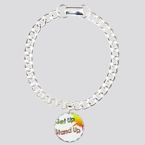 get up  stand up Charm Bracelet, One Charm
