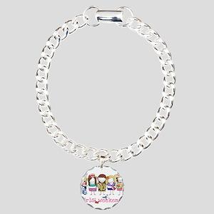 Girls Weekend Pink Charm Bracelet, One Charm
