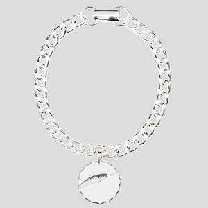 Narwhal whale bbg Charm Bracelet, One Charm