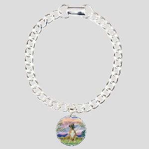 Cloud Angel & Boxer Charm Bracelet, One Charm