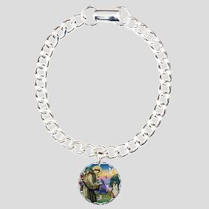 Saint Francis & Boxer Charm Bracelet, One Charm