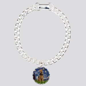 Starry - Airedale #1 Charm Bracelet, One Charm