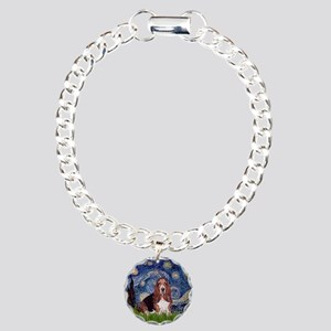 Starry / Basset Hound Charm Bracelet, One Charm