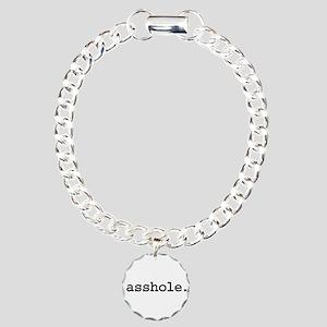 asshole. Charm Bracelet, One Charm