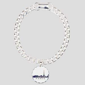 Mosaic Skyline of Paris Charm Bracelet, One Charm
