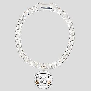 Beagle Mom Oval Charm Bracelet, One Charm