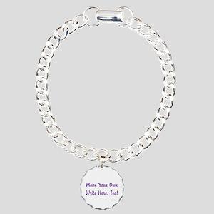 Make Your Own Cursive Sa Charm Bracelet, One Charm
