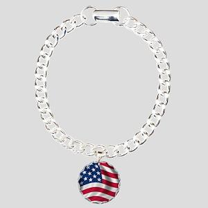 usflag Charm Bracelet, One Charm
