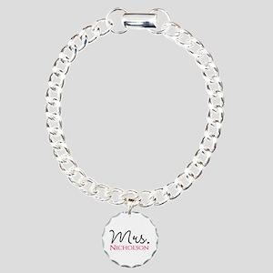 Customizable Name Mrs Charm Bracelet, One Charm