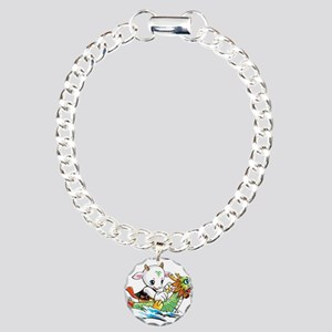 dragonboat2 Charm Bracelet, One Charm