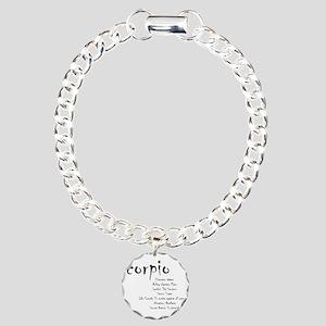 Scorpio Traits Charm Bracelet, One Charm