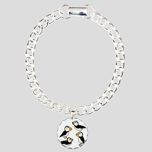 Puffins Charm Bracelet, One Charm