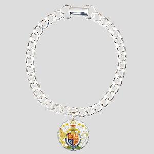 United Kingdom Coat Of Arms Charm Bracelet, One Ch