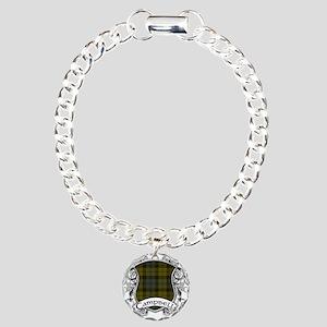 Campbell Tartan Shield Charm Bracelet, One Charm