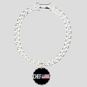 Careers: Chef (U.S. Flag Charm Bracelet, One Charm