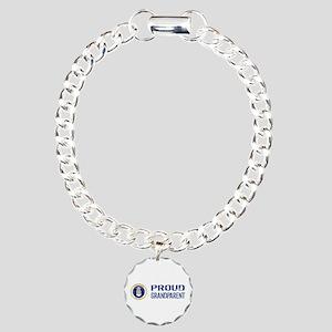 USAF: Proud Grandparent Charm Bracelet, One Charm
