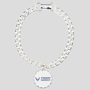 USAF: Proud Grandparents Charm Bracelet, One Charm