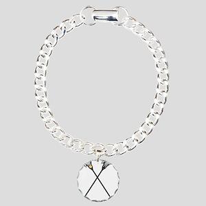 Lacrosse Player Customiz Charm Bracelet, One Charm