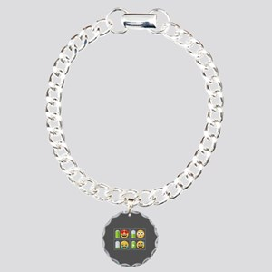 Emoji Phone Battery Charm Bracelet, One Charm