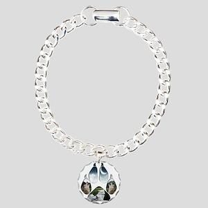 Wolf Print Charm Bracelet, One Charm