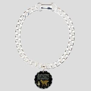 Alice Gryphon Explanations Charm Bracelet, One Cha