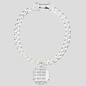 Binary Charm Bracelet, One Charm