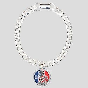 Mustang Plain Horse Charm Bracelet, One Charm
