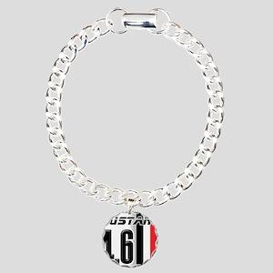 Mustang 4.6 Charm Bracelet, One Charm