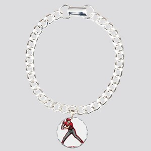 Personalized Baseball Charm Bracelet, One Charm