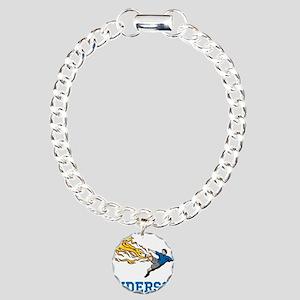 Personalized Soccer Charm Bracelet, One Charm