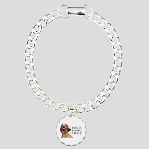 Happy Face Dachshund Charm Bracelet, One Charm