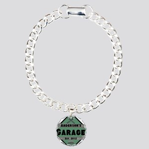 Personalized Garage Charm Bracelet, One Charm