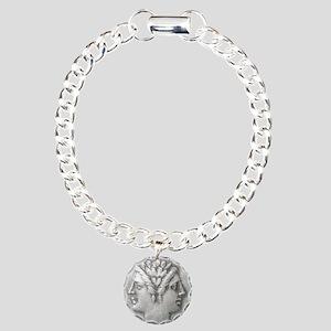 Ancient Coin Showing Janus Round Charm Bracelet