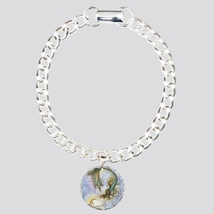 Deep Sea Moon Mermaid Fa Charm Bracelet, One Charm