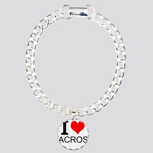 I Love Lacrosse Bracelet