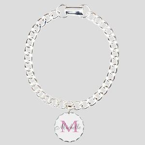 Personalized pink monogram Bracelet