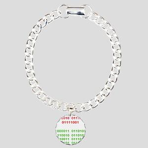 Merry Christmas in Binary Bracelet