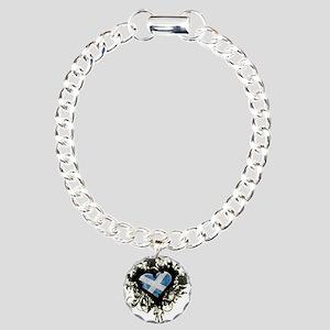 Scottish Heart Charm Bracelet, One Charm
