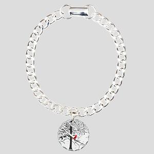 Cardinal Snow Scene Bracelet