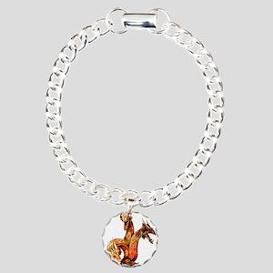 Three Headed Copper Drag Charm Bracelet, One Charm