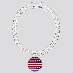 Stars and Stripes Charm Bracelet, One Charm